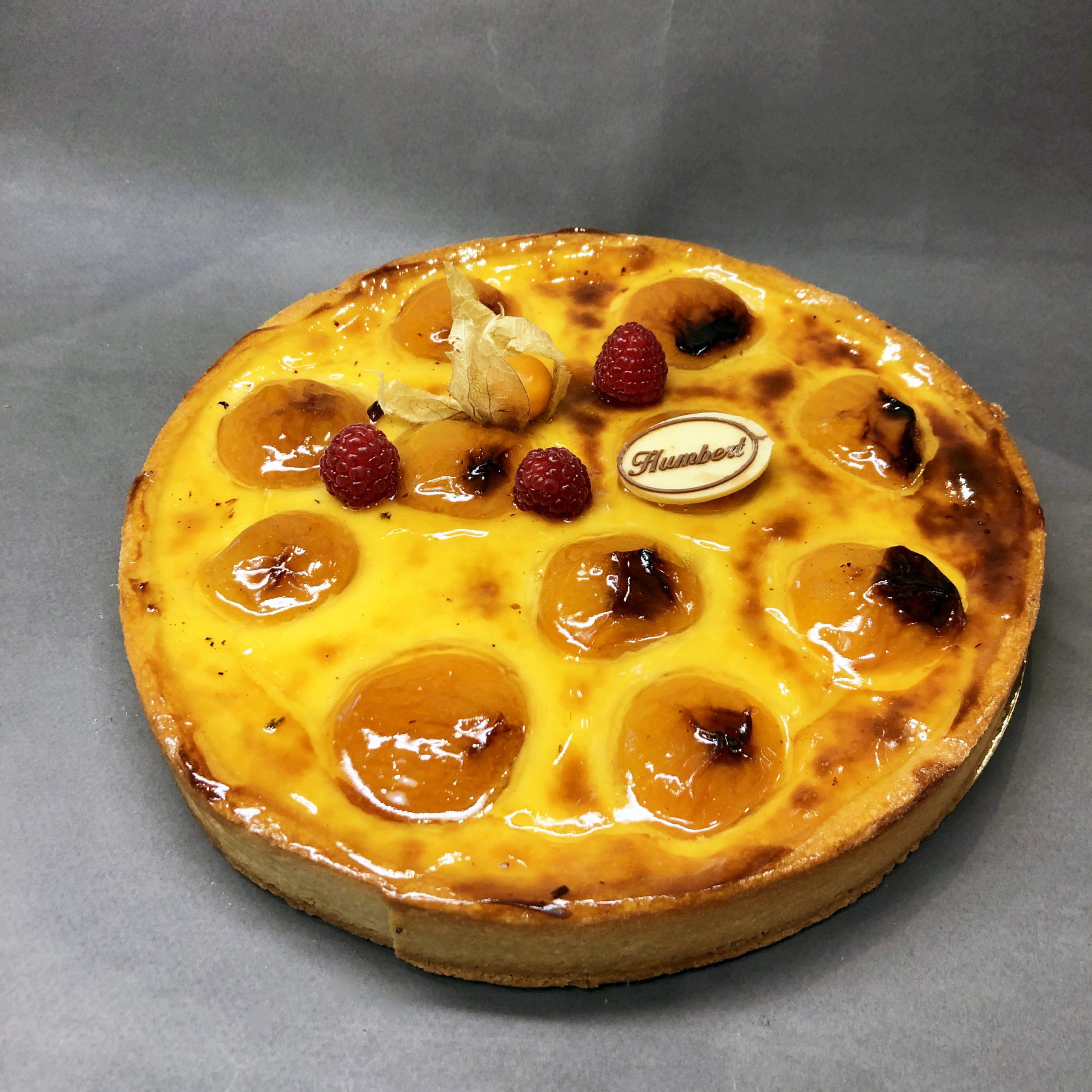 tarte au flan abricots